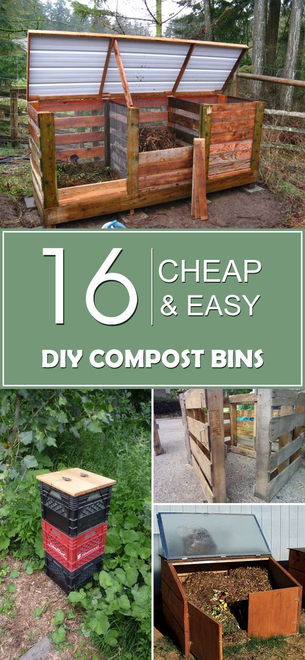 16 Cheap Easy DIY Compost Bins Diy compost bin Composting and