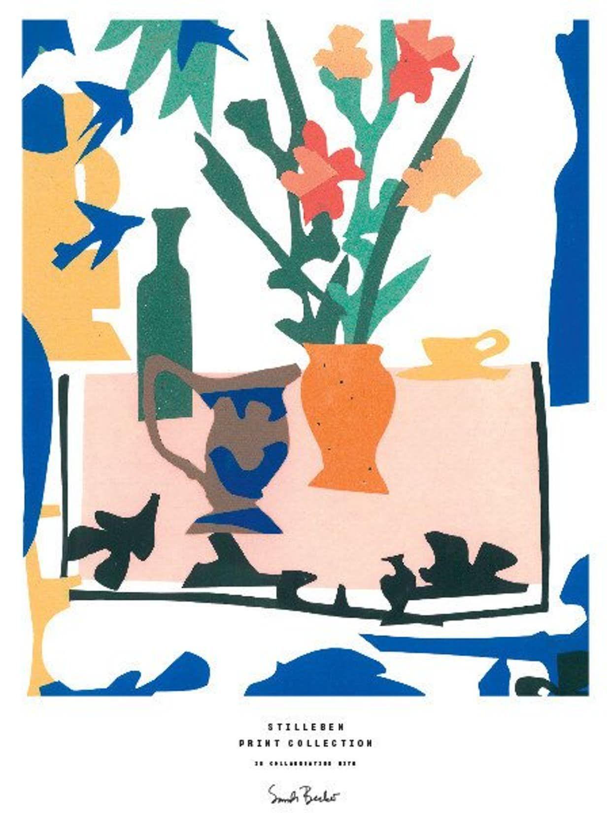8 Flotte Kunstvaerker Med Blomstermotiv Kunstvaerk Stilleben Og Plakater