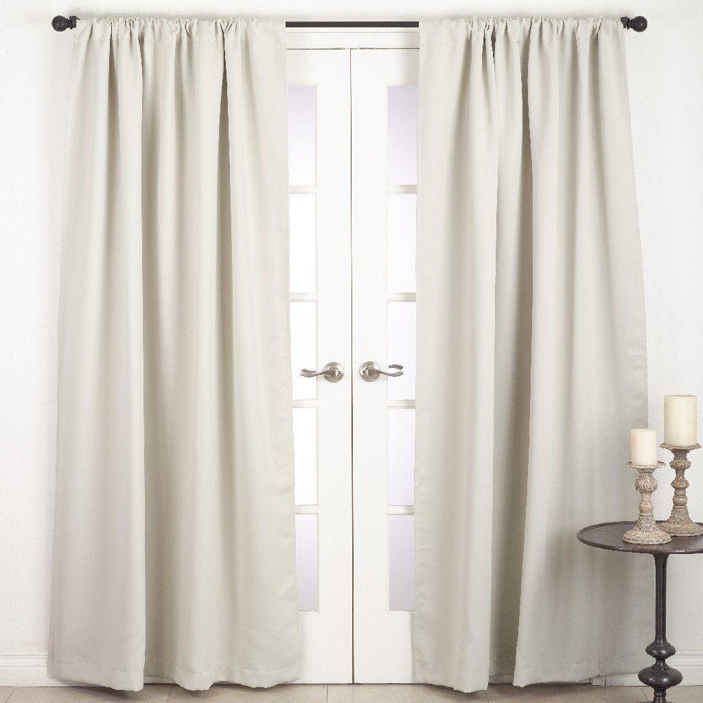 Solid Rod Pocket Blackout Window Curtain Panel Saro Lifestyle