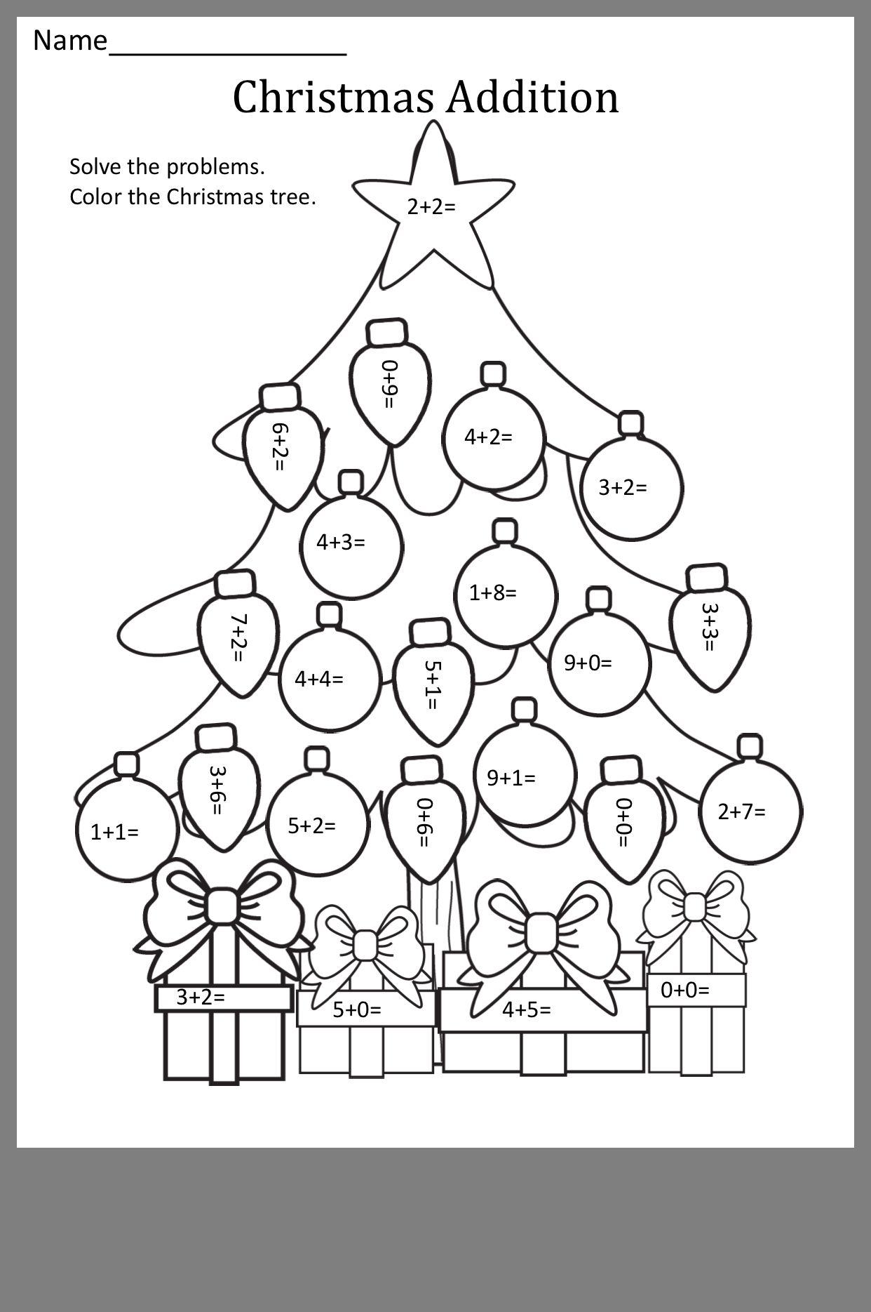 Pin By Eliesha Owens On Math Printables Classroom Math Activities Kids Math Worksheets Christmas Math [ 1869 x 1242 Pixel ]