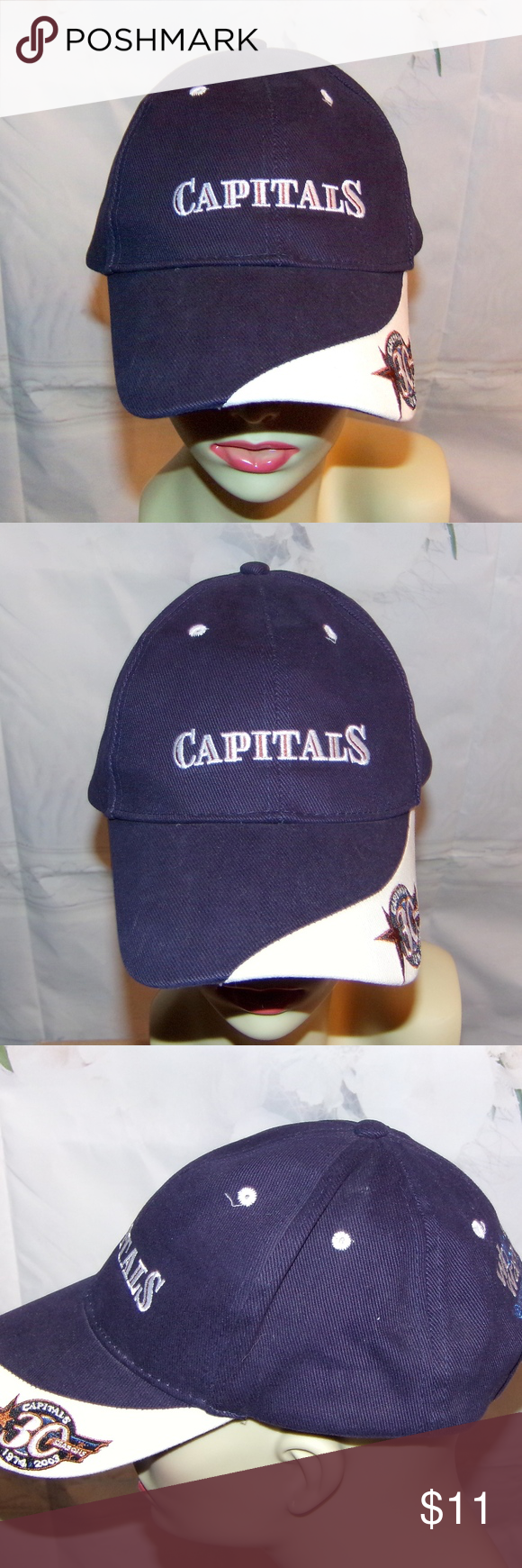 07741fac056 Washington Capitals NHL Hat Hockey Hat 30th Ann Washington Capitals NHL Hat  Hockey Hat 30th Anniversary