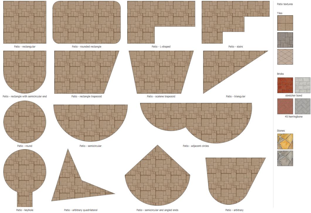 Design Elements - Patios   Building Plans — Landscape & Garden ...