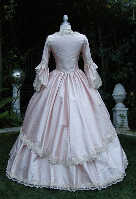 19 Century Pink Classic Halloween Costumes Civil War Southern Belle ...