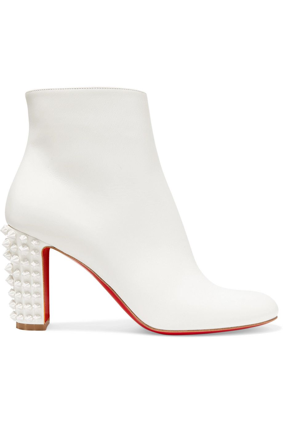 new style c85ae c8b9d Christian Louboutin - Suzi Folk 85 spiked leather ankle ...