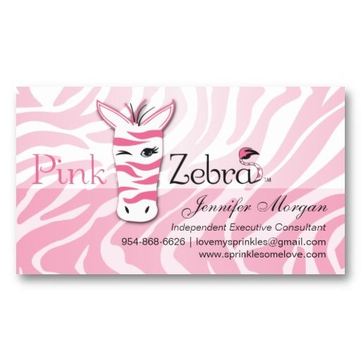 Pink Zebra Business Card Zazzle Com Pink Zebra Girly Business Cards Pink Zebra Consultant