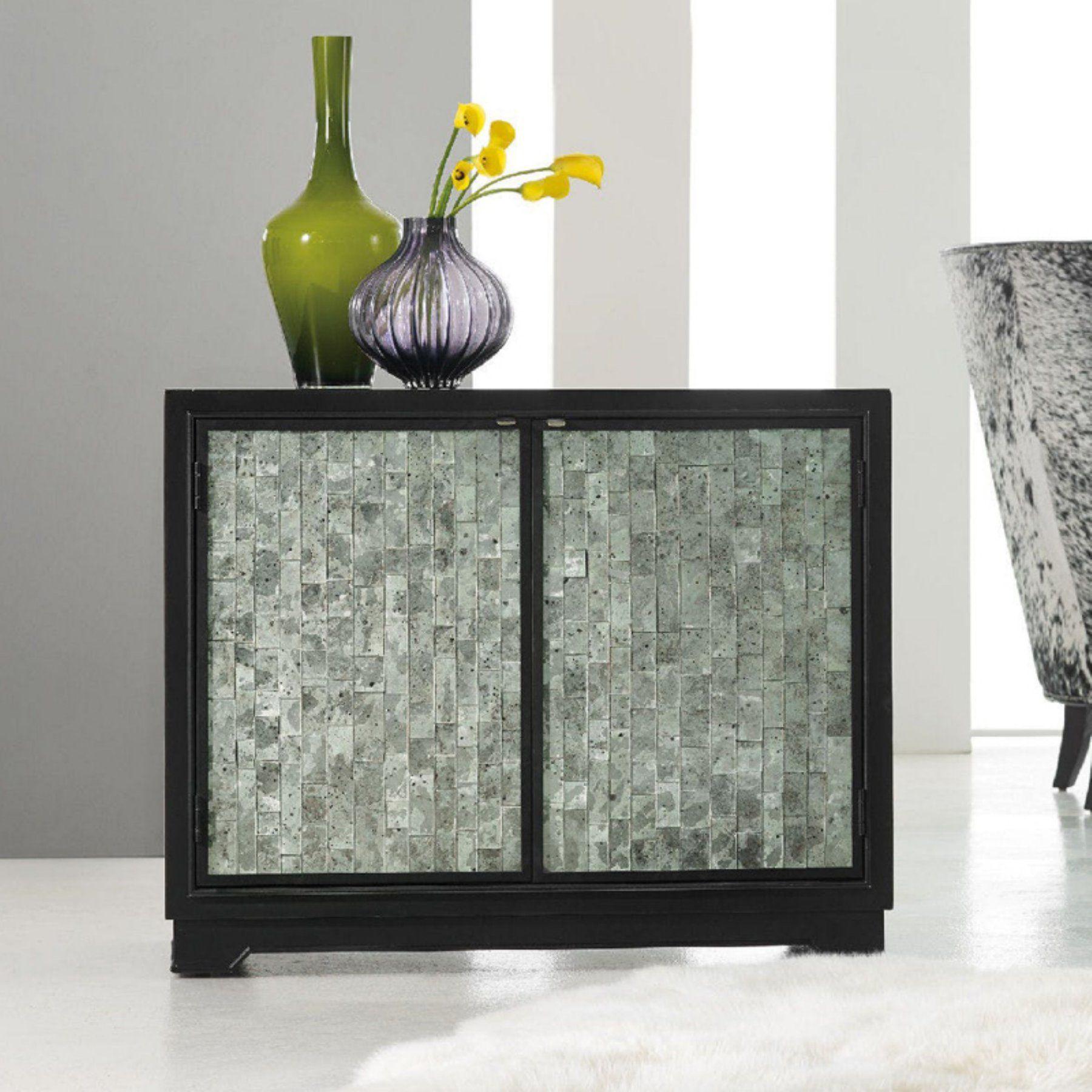 Hooker Furniture Melange Jett Cut Glass Chest - 638-85272-DKW