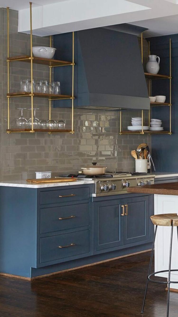 Blue Kitchen Inspiration Upper Kitchen Cabinets Kitchen Design Kitchen Trends