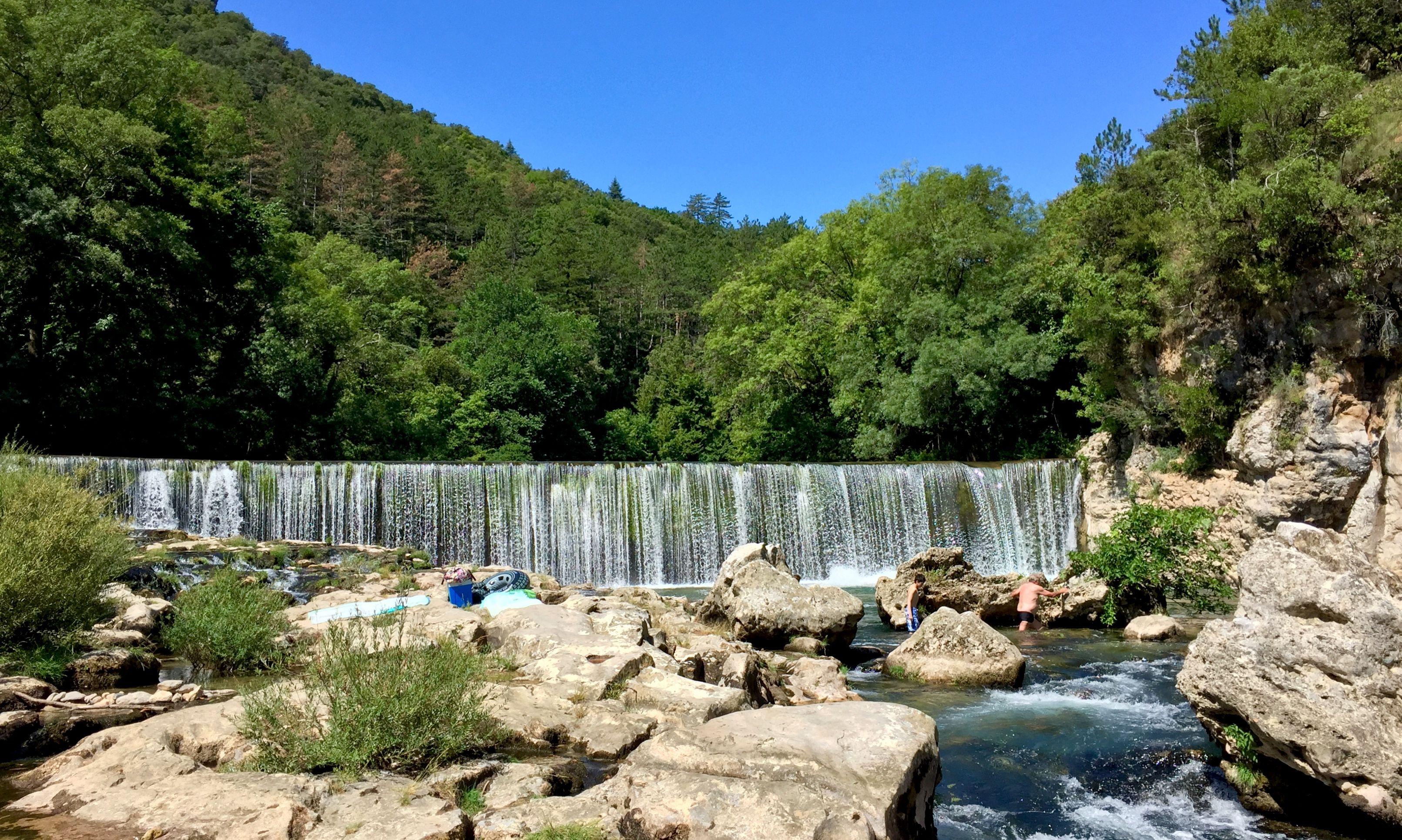 Cascade de la rivière le Vis. l'Herault (34). France