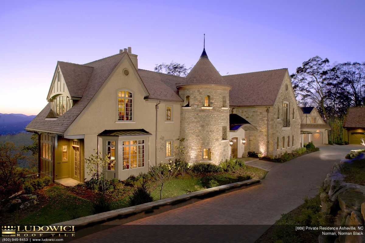 Private Residence In Ashville NC (roof Tiles By Ludowici) #roof #turret