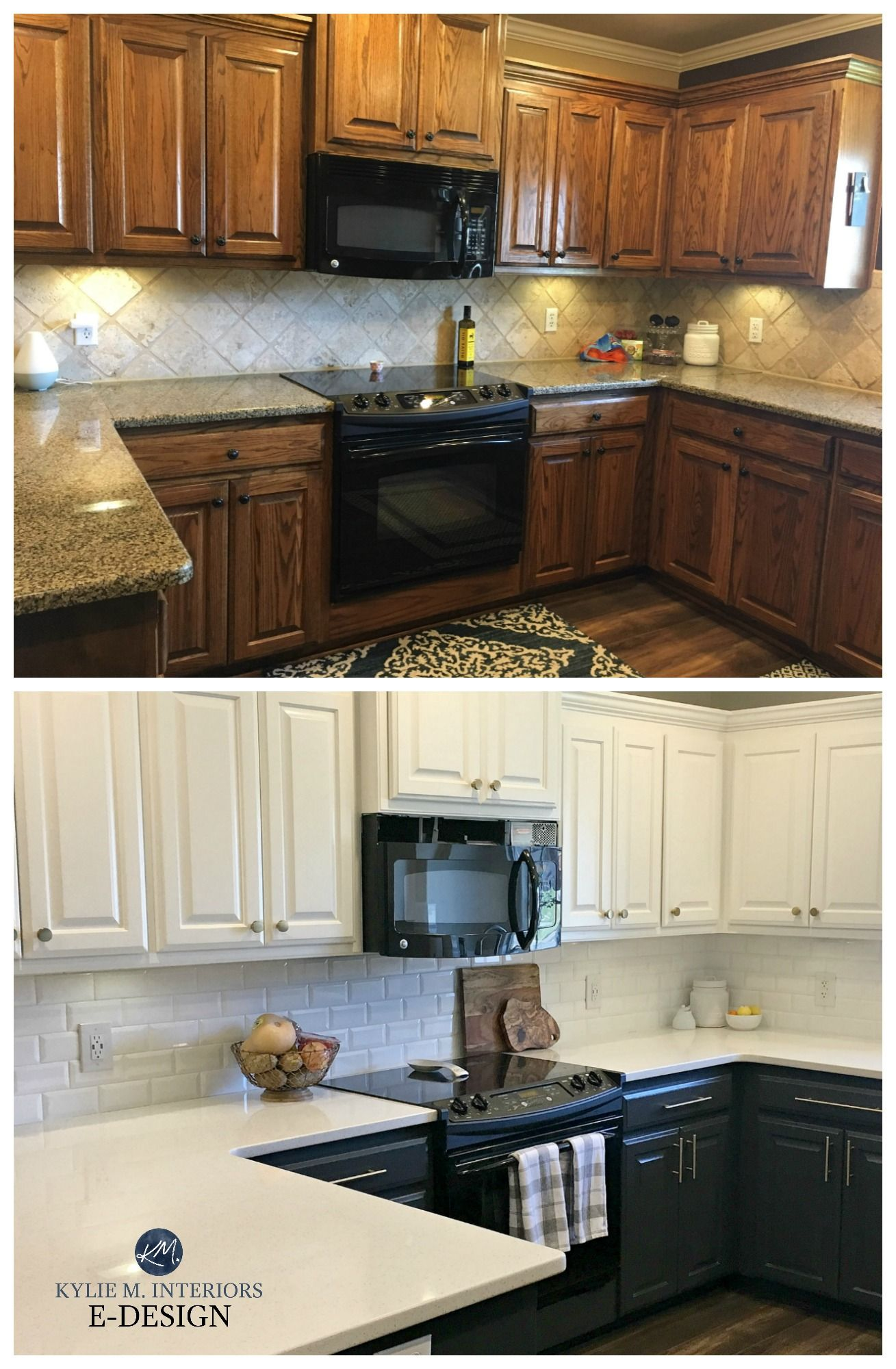 4 Ideas How To Update Oak Wood Cabinets Kitchen Cabinets Before And After Stained Kitchen Cabinets Kitchen Cabinets With Black Appliances