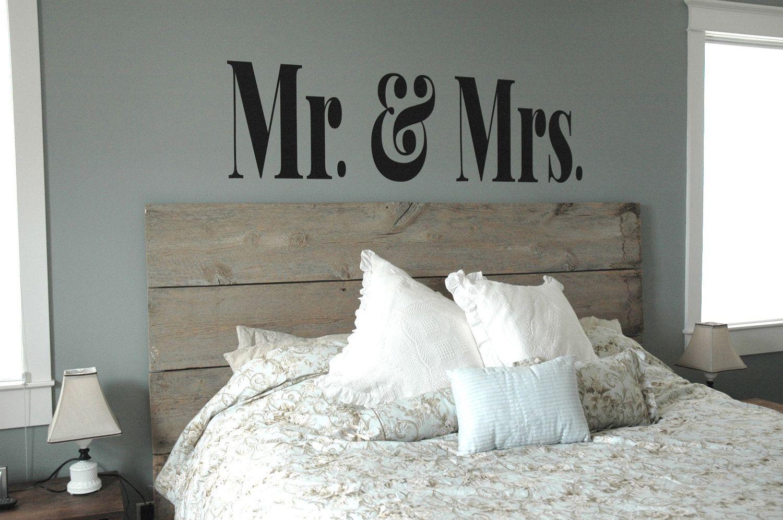 MR & MRS Vinyl Decal- Master Bedroom Decor, Modern, Sophisticated ...