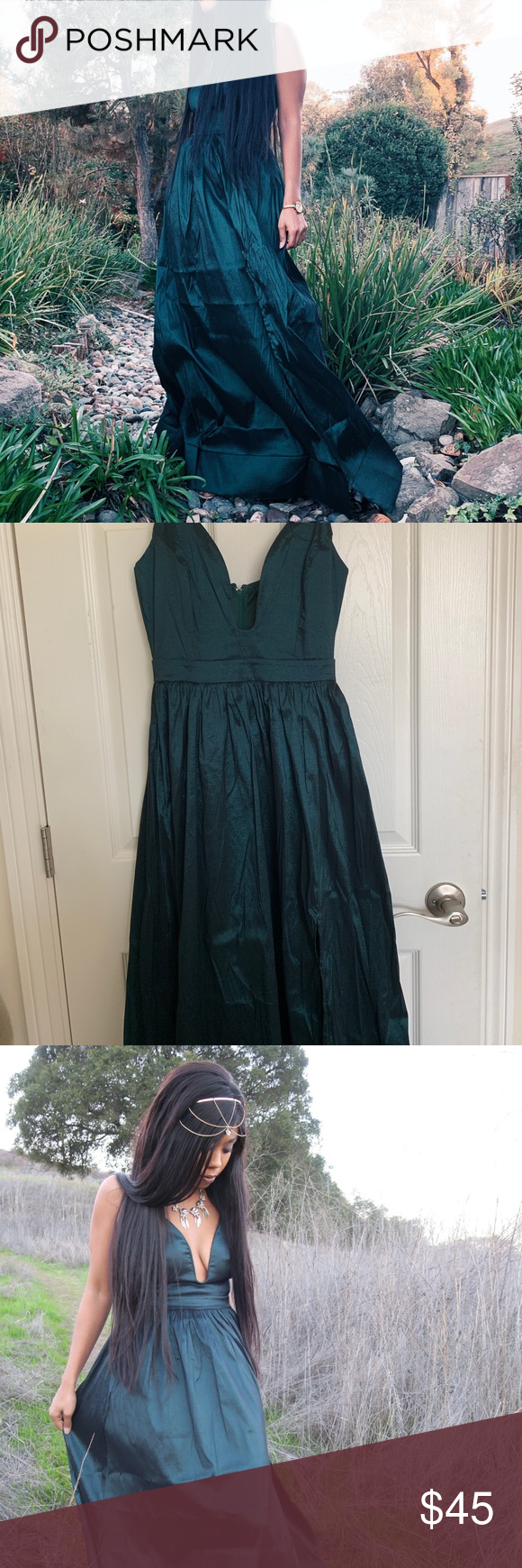 Elegant Long Dark Turquoise Dress In Size S Turquoise Dress Dresses Windsor Dresses