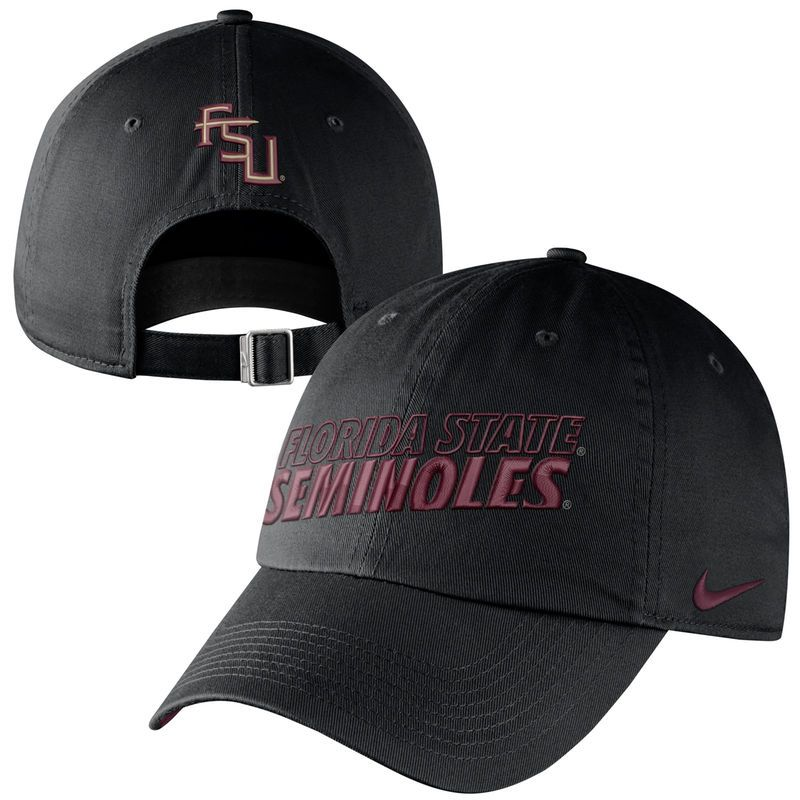 d1daf0e5f73 Nike Florida State Seminoles (FSU) Heritage 86 Campus Adjustable  Performance Hat - Black