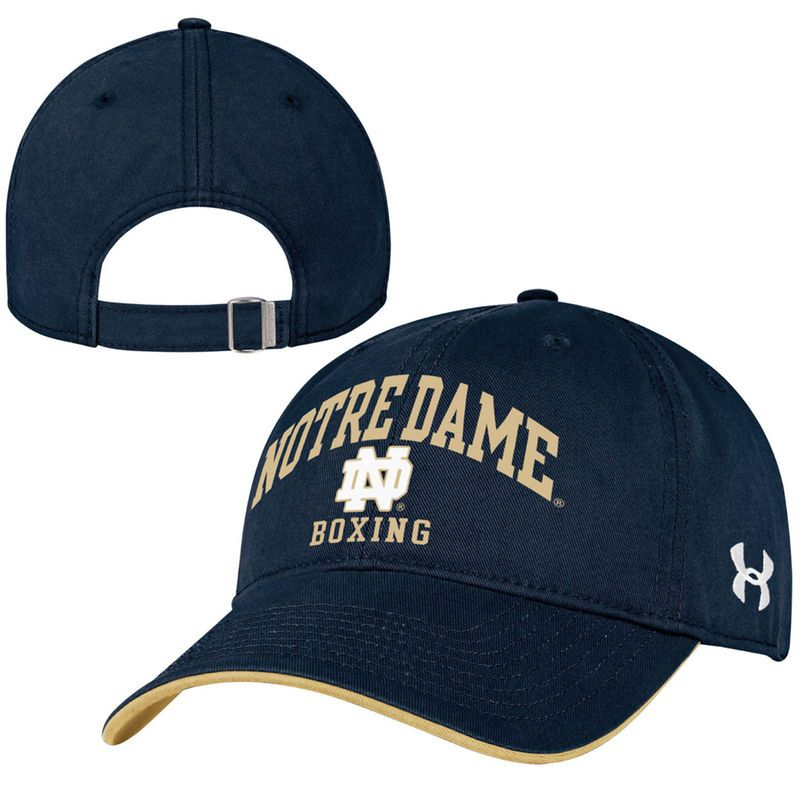 e38892e7a Notre Dame Fighting Irish Under Armour Boxing Relaxed Adjustable Hat ...