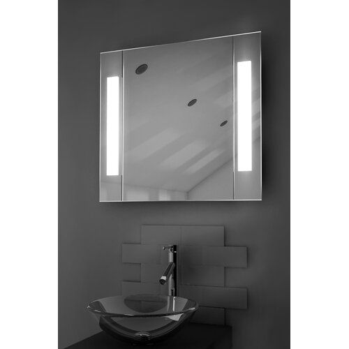 Anais 65cm X 60cm Surface Mount Mirror Cabinet With Led Lighting Belfry Bathroom Mirror Cabinets Mirror Cabinet With Light Bathroom Mirror Cabinet