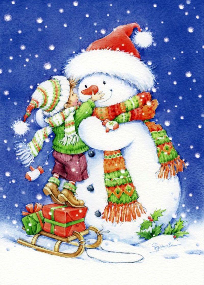 Поздравления, новогодние открытки ребенку