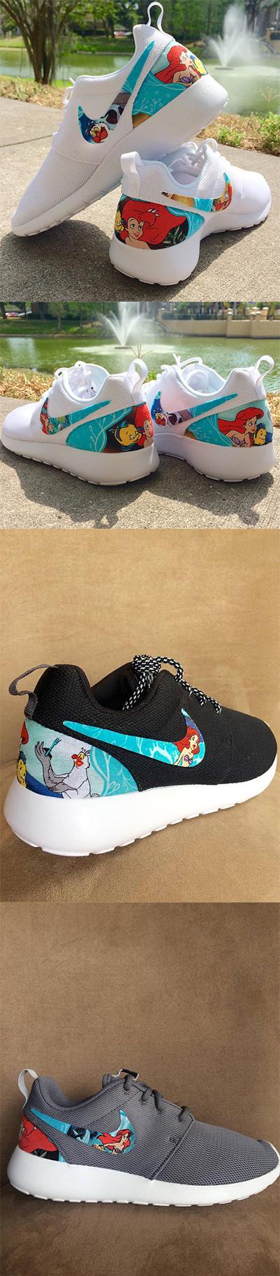 e4779c0e96b3c LIMITED The Little Mermaid Custom Nike Roshe