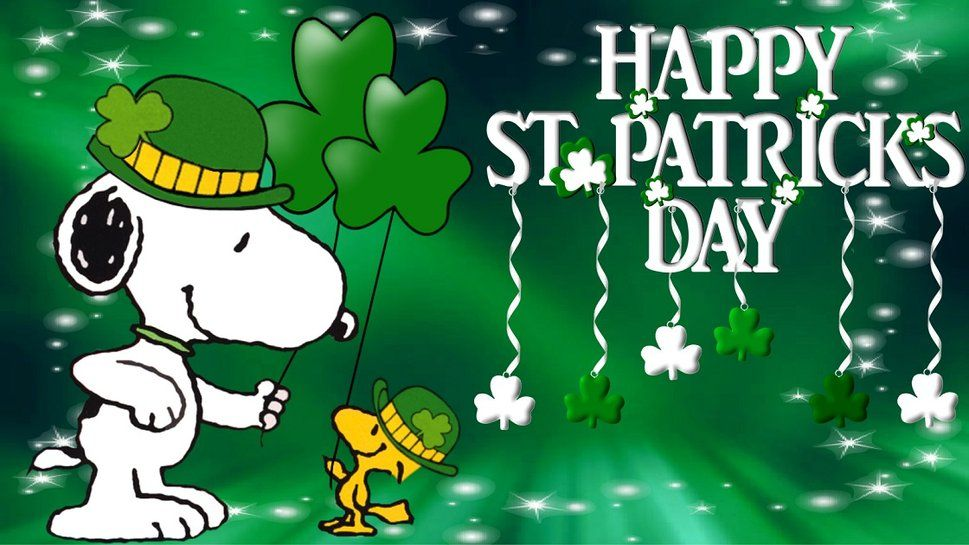 Are You Human Snoopy Wallpaper St Patricks Day Wallpaper Happy St Patricks Day