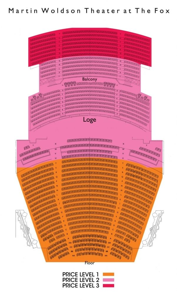The Elegant fox theater oakland seating chart