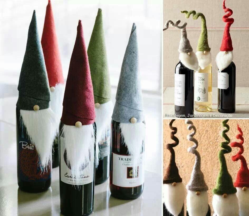 geniale idee f r flaschen d weihnachten pinterest flaschen weihnachten und geschenk. Black Bedroom Furniture Sets. Home Design Ideas