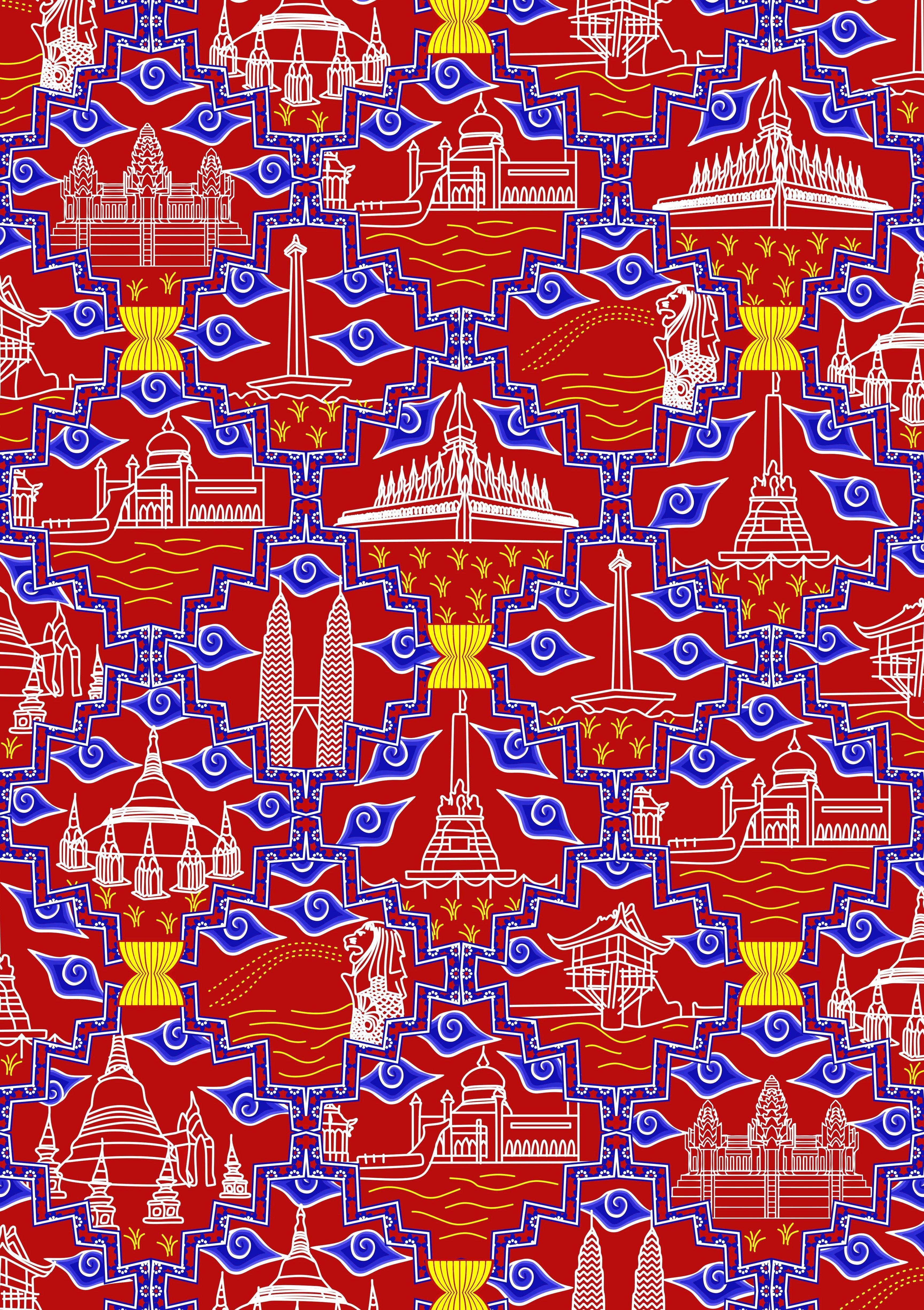 desain batik by Irsan Aditya untuk lomba batik ASEAN 2015 ...