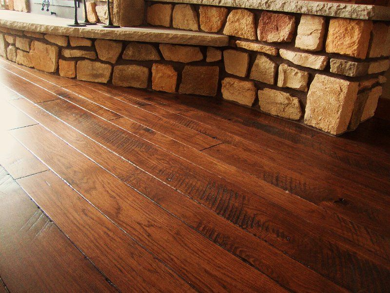 Integrity Hardwood Floors, custom mixed width stained ...
