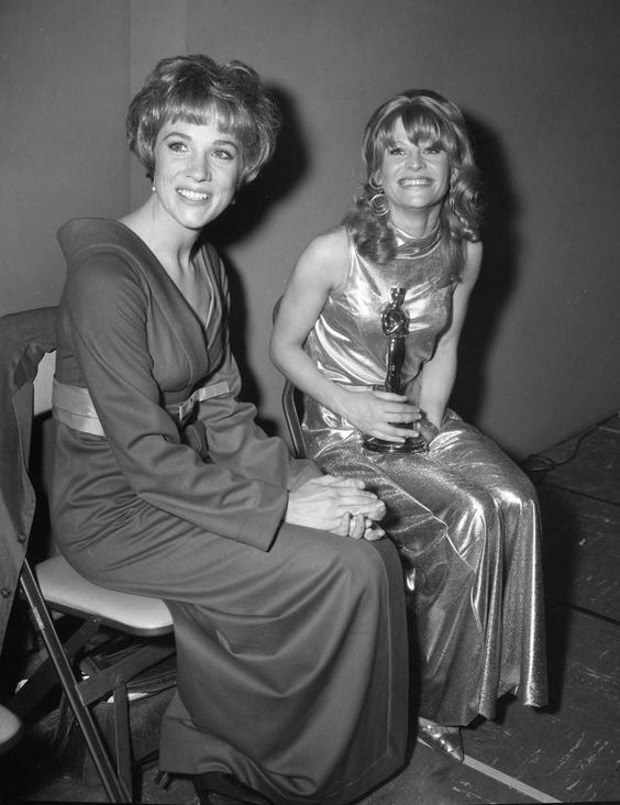 Julie Andrews and Julie Christie.  1972.