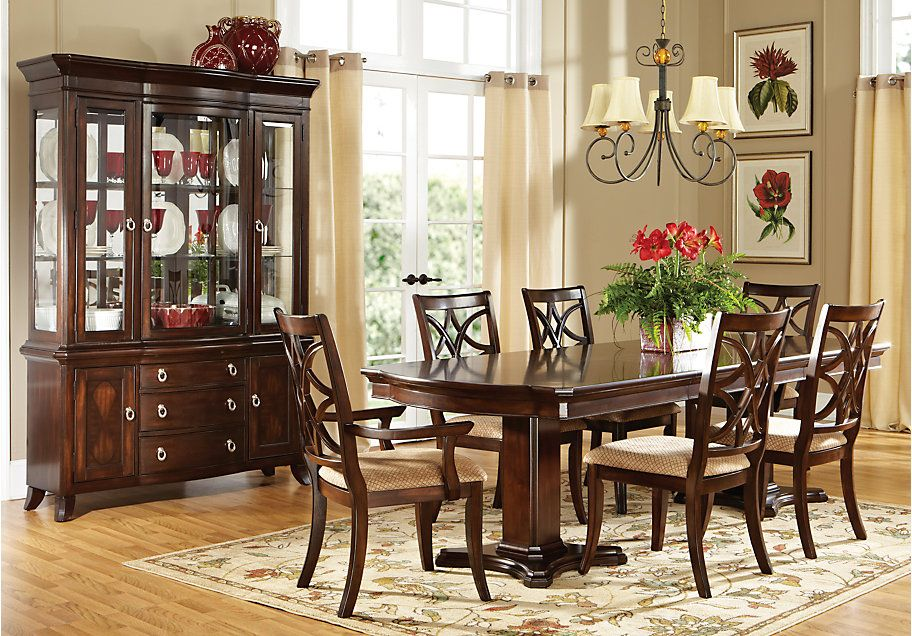 dining room furniture store | Grace Lane Walnut 5Pc Rectangle Dining Room in 2019 ...