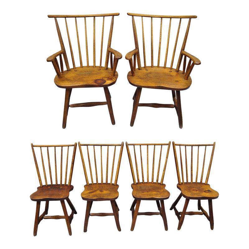 Set 6 Eetkamerstoelen.Hunt Country Furniture Pine Oak Wood Dining Chairs Set Of 6