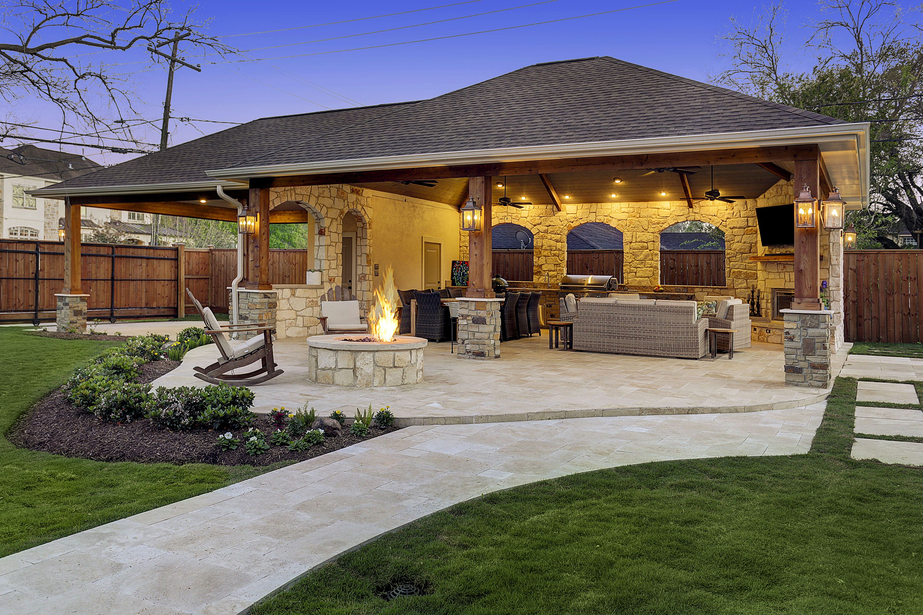 This Homeowner Wanted An Extended Outdoor Living Area In Order To Create Their Own Perso Outdoor Living Space Design Outdoor Covered Patio Outdoor Living Areas