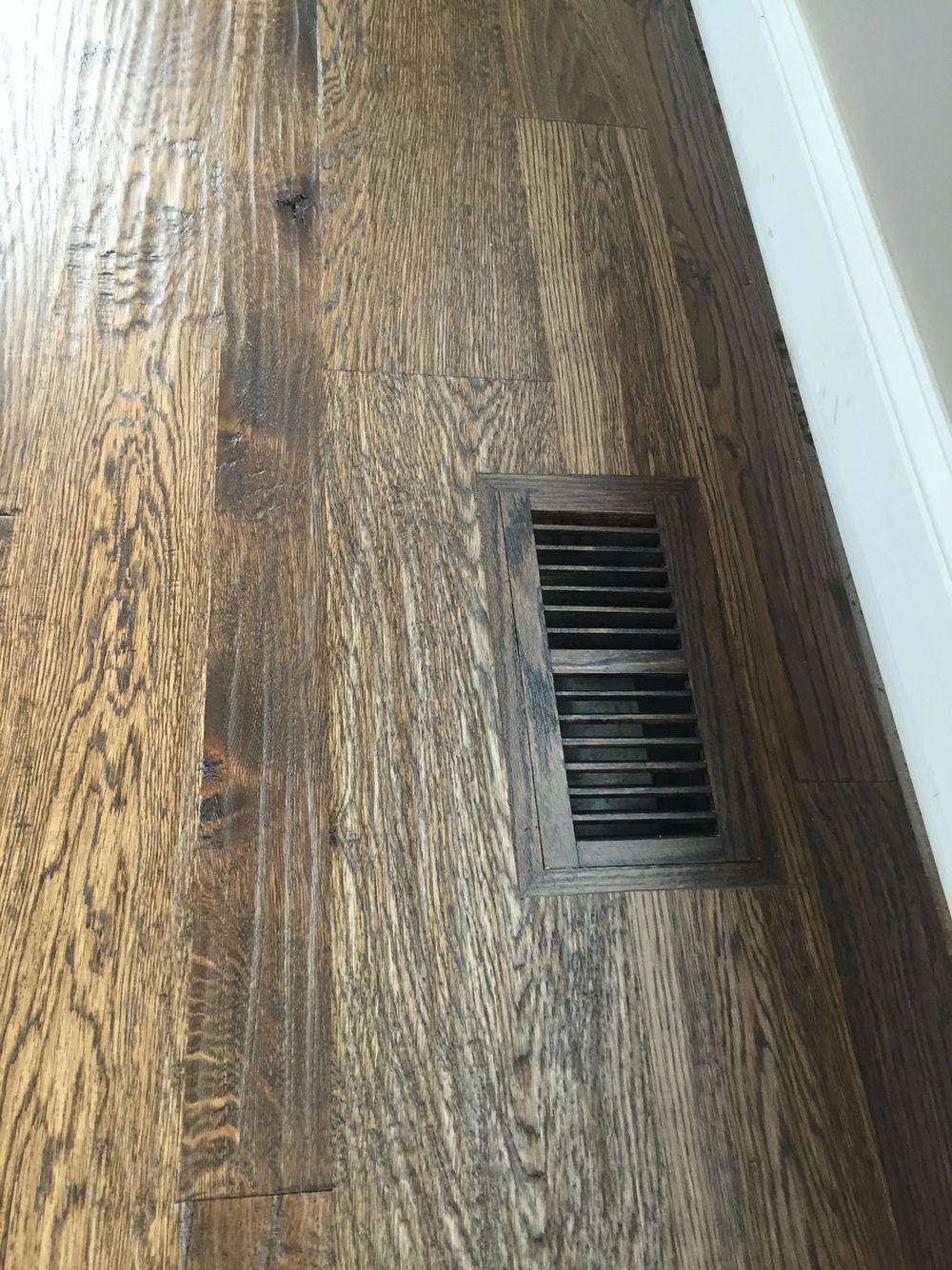 Locally Milled Random Width Nr White Oak Hand Scraped On Site - Mate flex flooring