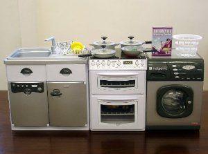 cooker washer fridge dishwasher play kitchen set toy: amazon.co.uk