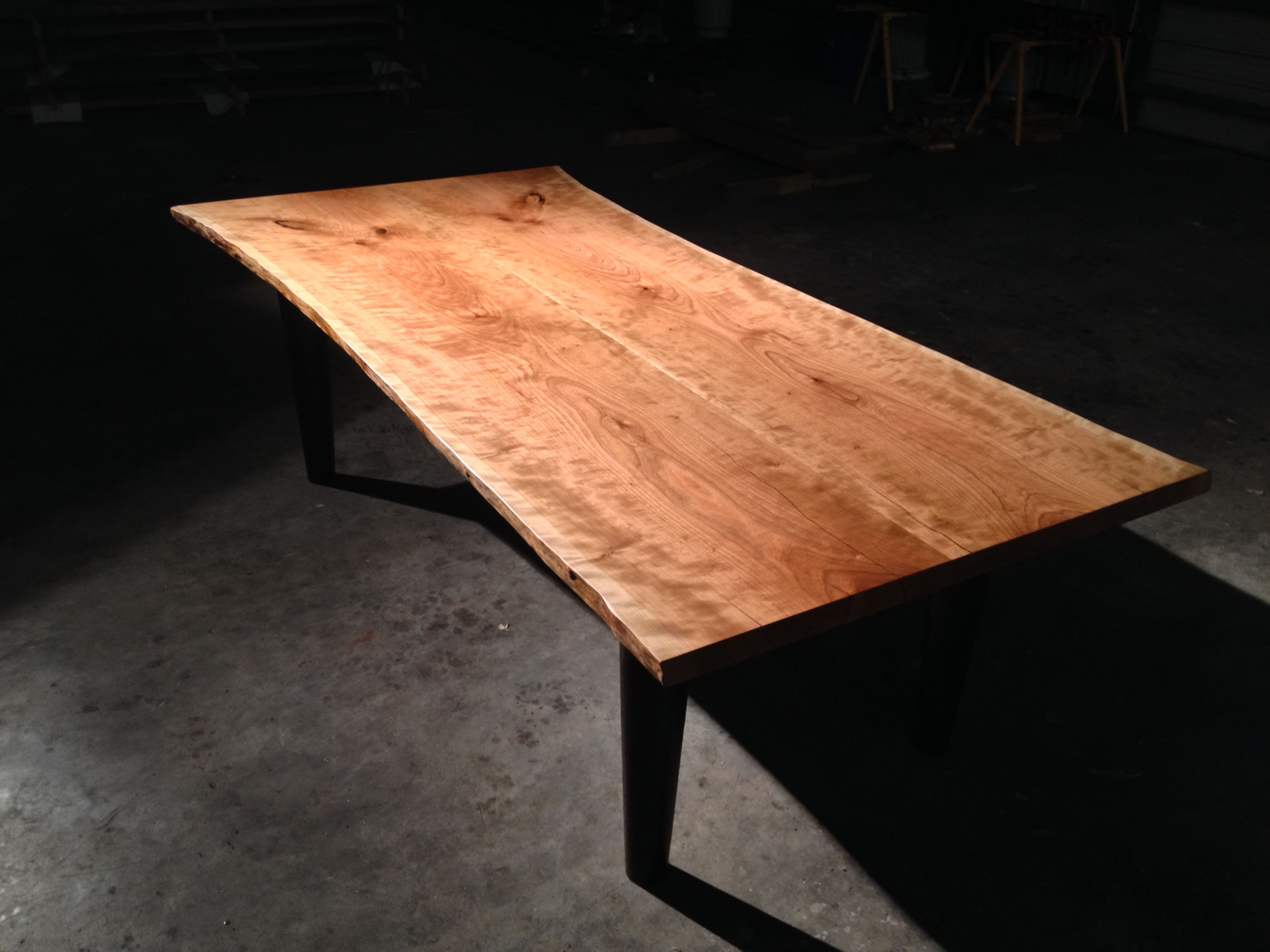 American Cherry Live Edge Table finished with Odie s Oil. 9 best Awesome Tables images on Pinterest   Wood tables  Custom