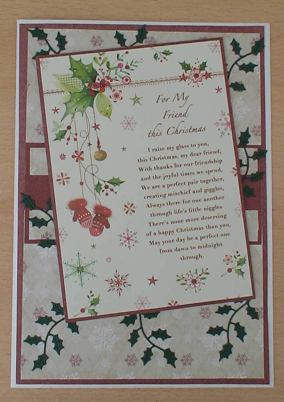 for my friend verse  christmas verses christmas card