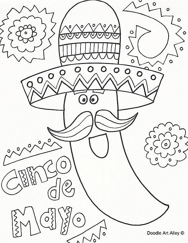 11 Places To Find Free Cinco De Mayo Coloring Pages Cinco De Mayo Colors Coloring Pages Coloring Pages For Kids