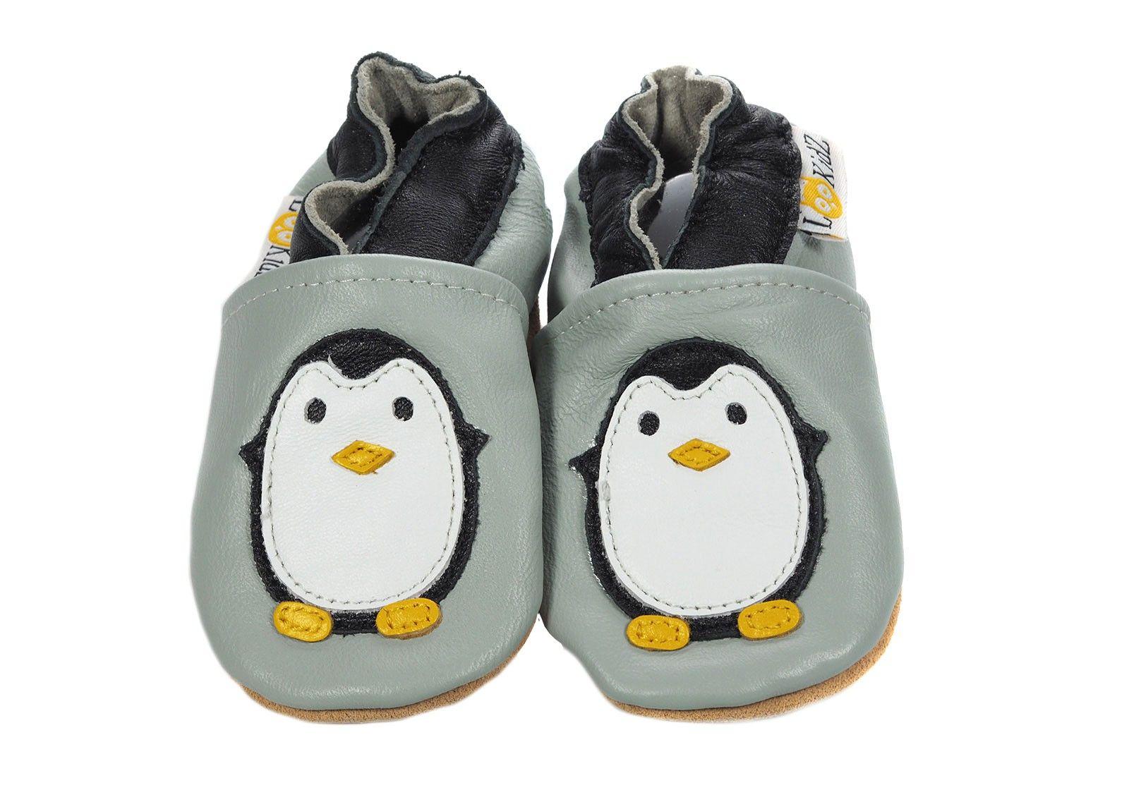 New York dans quelques jours revendeur Chaussons en cuir Lookidz Pingouin gris   Kids   Chausson ...