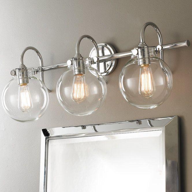 Retro Glass Globe Bath Light - 3 Light (With images ...