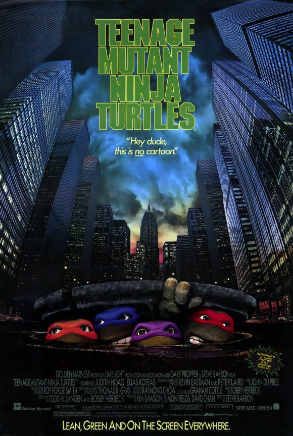 Image result for tmnt 1990 movie poster