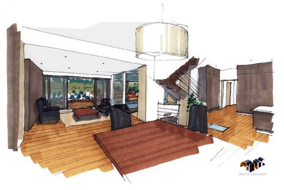 Architecte dintérieur pour la construction dune extension pour une maison individuelle au