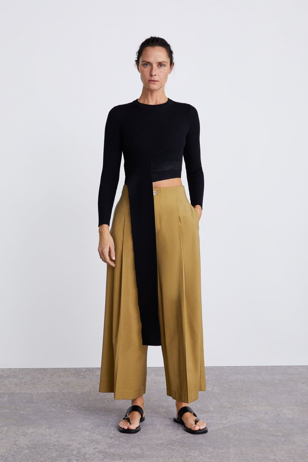 36c737fb CROPPED PALAZZO TROUSERS-Collection-TIMELESS-WOMAN-CORNER SHOPS | ZARA  United Kingdom