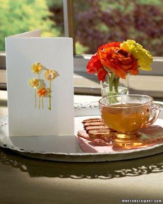 Tissue Paper Flower Card Recipe Cartes A Fabriquer Cartes De