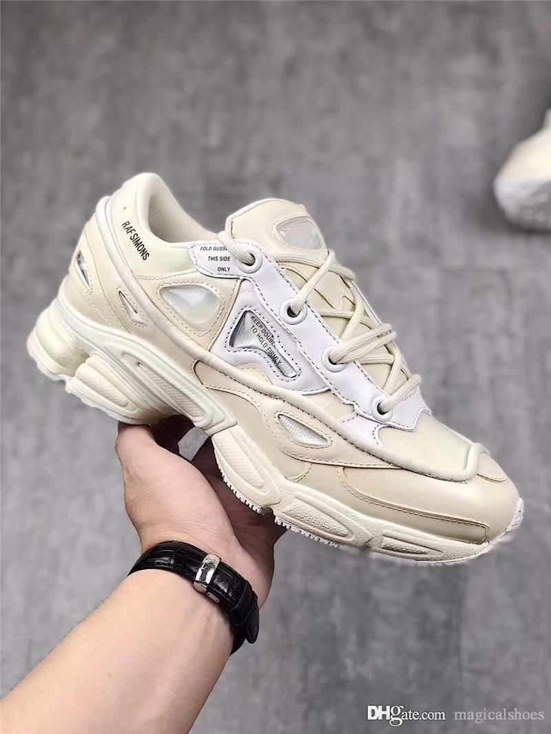 e89fdee9e11 2018 Authentic Quality RAF Simons Consortium Ozweego 2 Outdoor Shoes With R  Logo For Men Women 2018 Night Marine Sneakers 26 45 From Freedomfly