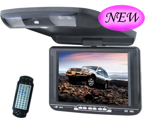 new auto overhead dvd player with dvb t flip car dvd. Black Bedroom Furniture Sets. Home Design Ideas