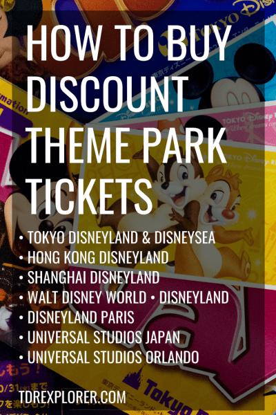 How To Buy Discount Tickets For Universal Disney Theme Parks Worldwide Universal Studio Osaka Disney Tickets Disneyland Tickets