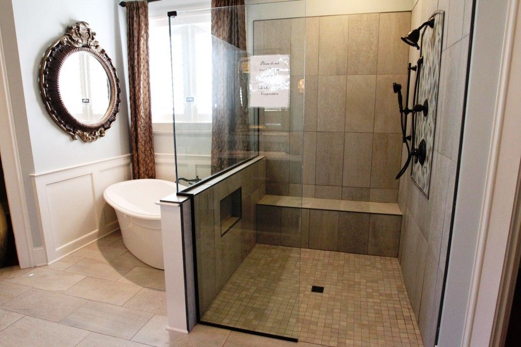 Oil Rubbed Bronze Shower And Freestanding Soaking Bathtub Small Bathroom Remodel Small Bathroom Renovations Small Space Bathroom Remodel