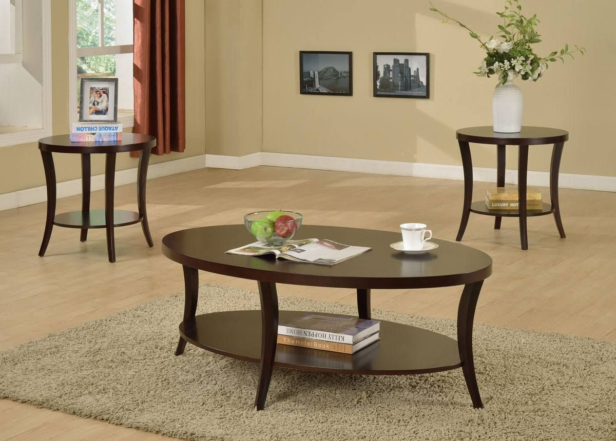 Rhonda 3 Pc Occasional Set In 2021 3 Piece Coffee Table Set Coffee Table Coffee Table Wood [ 860 x 1200 Pixel ]