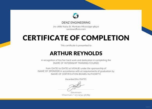 Student Certificate Template Google Docs Best Of Certificate Template 62 Free Pr...