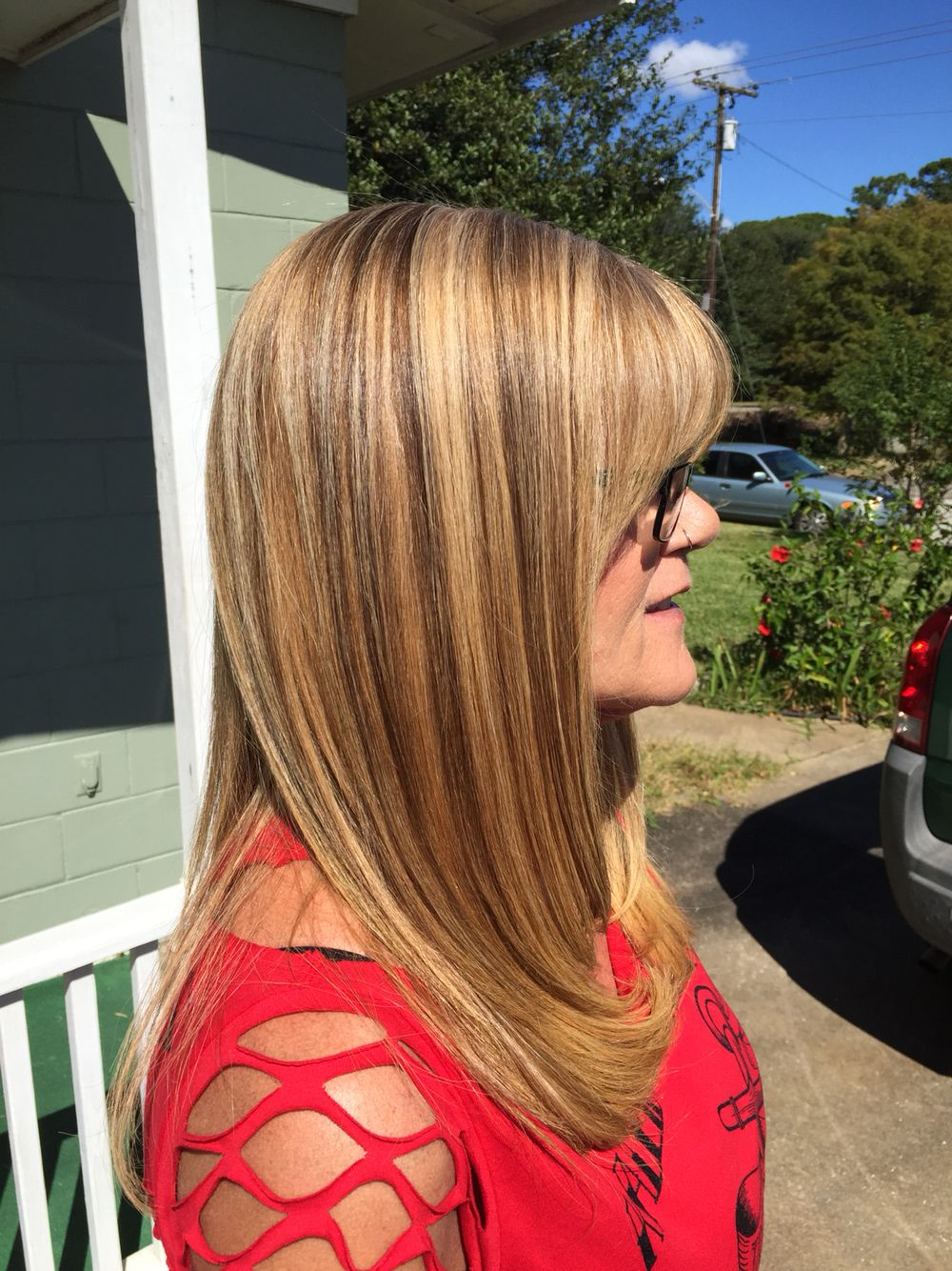 Exclusive Transformation Color Highlights Lowlights Grey Hair