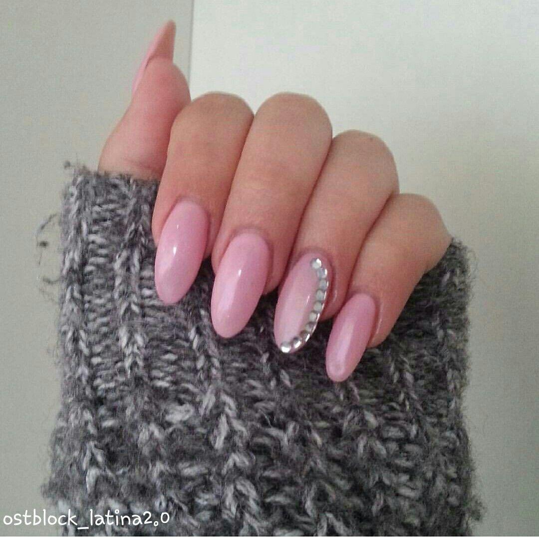 Nägel/Gelnägel/strass/rosa/nails/gelnails/strass/rosa/Paznokcie ...