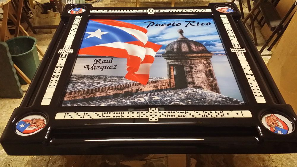 Details About Domino Tables By Art With Puerto Rican Flag